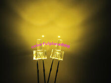 50pcs, 2mm Warm White Flat Top Water Clear Led Diodes 12000MCD Leds Light New