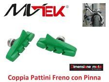 """0246 - Coppia manopole """"wag"""" colore Nero/verde per bici 26-28 Condorino"""