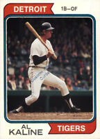 Custom made Topps 1974 Detroit Tigers Al Kaline baseball  card