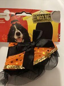 Witch Hat Dog Pet Costume Halloween Dress Up Fun New Small Medium