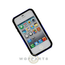 Apple iPhone 4/i4S Hybrid Mesh Case Blue Case Cover Shield