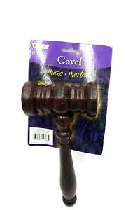 Judge Lawyer Auctioneer Gavel Hammer Halloween Costume Accessory Toy Prop NEW!