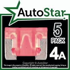 4 Amp Micro Fusibles X 5 – Automotriz Fusible-de bajo perfil, Mini, APS, att 4a 4amp un