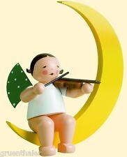 Wendt & Kühn 30cm Großfigur Engel mit Geige im Mond groß 771/2 Erzgebirge