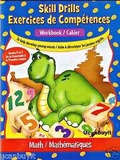 48pg Clever Factory MATH Homeschool Skill Drills Elementary Workbook Grades K-1