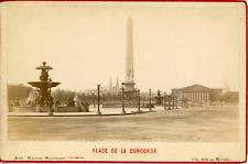 Maison Martinet, France, Paris, Place de la Concorde, ca.1880, vintage albumen p