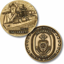USS Jarrett Challenge Coin FFG-33 US Navy Fast Frigate USN Ship Guided Missile