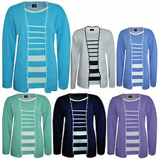Unbranded Women's Acrylic Striped Long Sleeve Jumpers & Cardigans