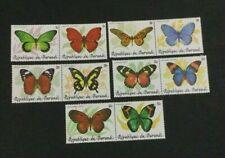 MOMEN: BURUNDI SC #611-615 1984 BUTTERFLIES PAIRS MINT OG NH CAT $315 LOT #7937*