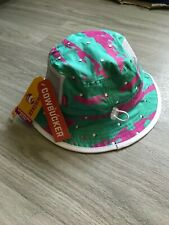 NEW NWT Vintage Style In N Out Geometric Pattern Beach Boonie Bucket Hat Mens OS