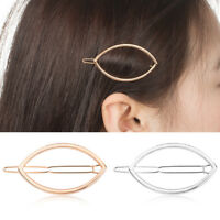 Women Vintage Oval Geometry Hair Clip Hairband Comb Bobby Pin Barrette Hairpin