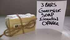 3 BARS - Happy Goat Creamery Rich Goat Milk Soap Pure Orange Bulk Cheap Wholesal