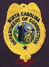 """LMH Patch  NORTH CAROLINA  Obsolete DEPARTMENT CORRECTIONS Old Logo DOC  3-1/2"""""""