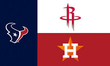 Houston State Fans Texans Rockets Astros 3x5 Feet Banner Flag NBA MLB