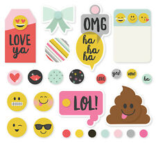 Simple Stories Emoji Love Collection Decorative Brads 8020  2017