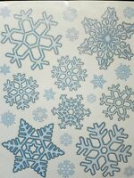 40 x Snowflake Window Clings Reusable Stickers Christmas Decorations Decal Xmas