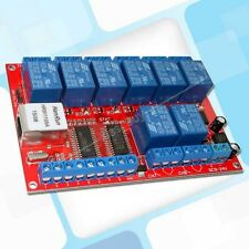 LAN Ethernet 8-way Relay Board Delay Switch TCP/UDP Controller Module WEB server