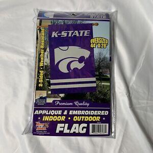 "Kansas State University Wildcats Applique Banner NCAA Licensed 28"" x 44"""
