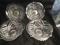 Crystal Bowls Set Of 4