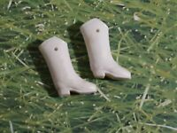 Original Dawn Doll Majorette Boots white in great condition lots of pics NO DOLL