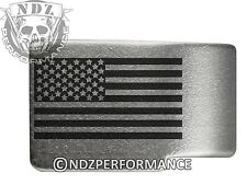 for Glock GEN 1-3 Engraved Magazine Release Extended Sil US Flag Inverse