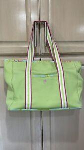 Lilly Pulitzer Vintage Diaper Bag Panda Pink & Green &pad