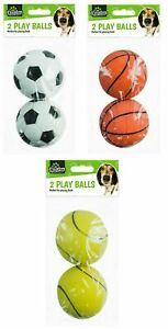 Rubber Dog Balls Toy Tennis Basketball -Adult/Puppy Throw Fetch Bounce