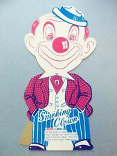 Vintage 1960s Smoking Clown Sign Fireworks Holder Cardboard Standee Cigar Smoker
