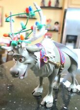 "Disney Parks Ornament Frozen Sven Glitter Antlers Tangled Lights 4"" STUNNING NWT"