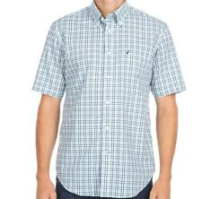 Nautica Short Sleeve 100% Cotton Casual Shirts for Men