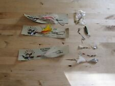 Lot of Vintage Feather Jig Fishing Lures Stripers Blue Fish Mackeral
