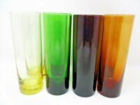 Vintage Highball Bar Glasses Tumbler 12oz 7in tall MCM set of 8