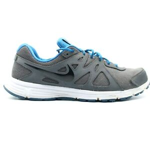 Nike Men's Revolution 2 554953-037 Grey Blue Running Shoes Lace Up Size 10.5