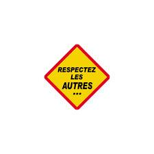 Autocollants : Respectez les autres !
