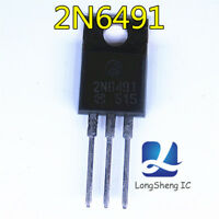 10PCS 2N6491 Encapsulation:TO-220,COMPLEMENTARY SILICON POWER TRANSISTORS  new