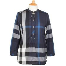 BURBERRY Lady's Tunic Shirt Navy Check Size 6