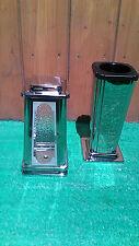 Grabset 2tlg., Edelstahl Grablaterne Grabvase Grablampe Grab Vase mit Einsatz