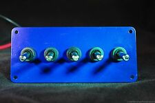 LED toggle switches - BLUE - w/  BLUE panel