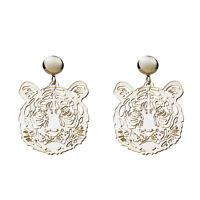 Fashion Women Drop Dangle Stud Earring Acrylic Resin Tiger Earrings Jewelry Gift