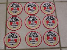 ALFA McLaren F1 RACING PATCH X 9 NO. Nuovo di Zecca anni 1970 anni 1980 STOCK LOTTO ODL