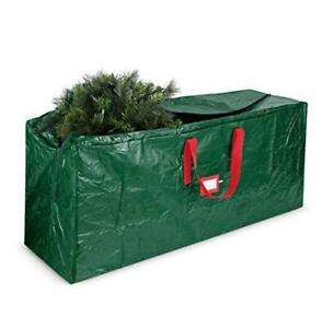 Artificial Christmas Tree Storage Bag - Fits Up to 7.5 Foot Holiday Xmas Green