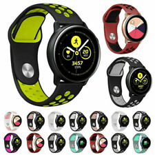 For Samsung Galaxy Watch Active 2 44mm 40mm Double Color Sports Silicone Strap