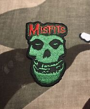 Misfits Crimson Ghost Green Embroidered Patch M003P Black Flag Rancid Offspring
