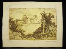 Luc BARBIER (1903-1989) Eglise de Chambost gravure numérotée 4/20