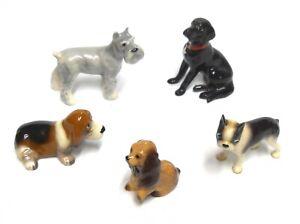 Five Miniature Hagen Renaker Dog Figurines