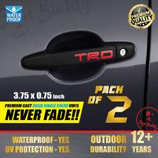 Toyota TRD 2x pcs Tacoma 4Runner Tundra Cruiser Door Handle Decal Emblem Sticker