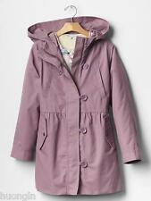 GAP KIDS Girl MEDIUM Lavendar Purple 3-IN-1 FLORAL LINED PARKA Layer Jacket NWT