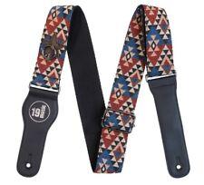Multicoloured Native American Premium Cotton Adjustable Guitar Strap Capo Holder