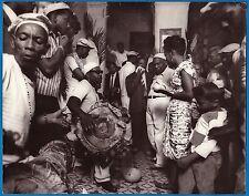 vintage photo black afro cuban music orchestra santeria Santiago Cuba foto 1968