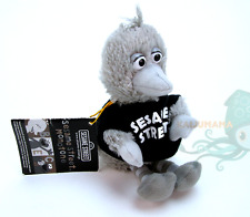 Sesame Street Japan Monotone Gray Big Bird Plush Keychain Mascot Figure Doll UFO